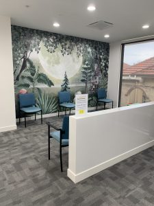 One of our comfortable waiting rooms