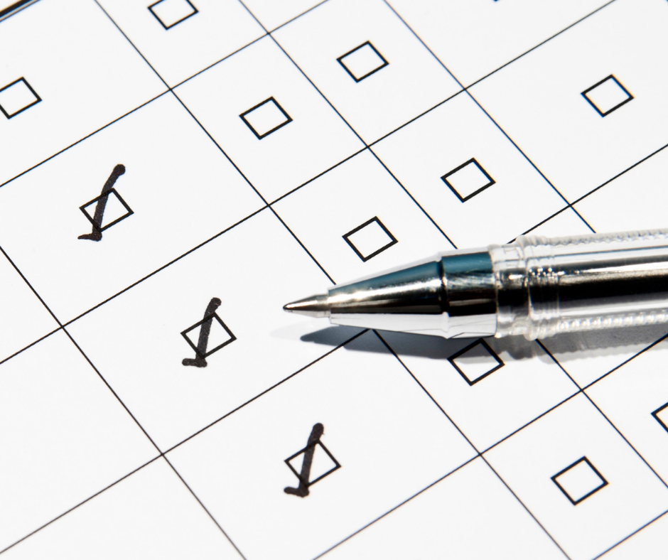 Checkboxes on a survey form